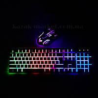 Клавиатура для компьютера с динамичной подсветкой KR-6300 / клавиатура с подсветкой