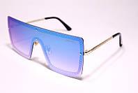 Солнцезащитные женские очки маска Шанель 3915 C6 реплика Голубые с градиентом