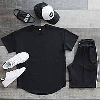 Шорты + футболка оверсайз / комплект мужской летний Goro x black