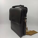 Шкіряна чоловіча сумка через плече / Мужская кожаная сумка через плечо Langsa 9871-1, фото 5