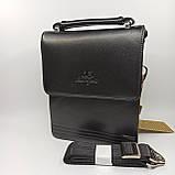 Шкіряна чоловіча сумка через плече / Мужская кожаная сумка через плечо Langsa 9871-1, фото 4