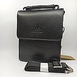 Шкіряна чоловіча сумка через плече / Мужская кожаная сумка через плечо Langsa 9871-1, фото 3