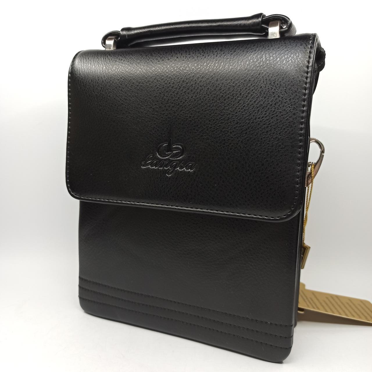 Шкіряна чоловіча сумка через плече / Мужская кожаная сумка через плечо Langsa 9871-1