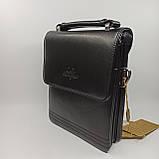 Шкіряна чоловіча сумка через плече / Мужская кожаная сумка через плечо Langsa 9871-1, фото 6