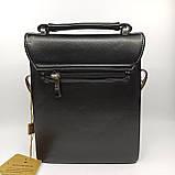 Шкіряна чоловіча сумка через плече / Мужская кожаная сумка через плечо Langsa 9871-1, фото 7