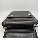 Шкіряна чоловіча сумка через плече / Мужская кожаная сумка через плечо Langsa 9871-1, фото 8