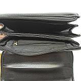 Шкіряна чоловіча сумка через плече / Мужская кожаная сумка через плечо Langsa 9871-1, фото 9
