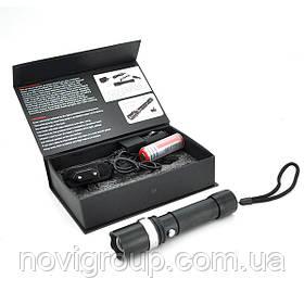 Ліхтарик ручний KH-110, 3 реж., Zoom, корпус-алюміній, ударостойкий, 18650 ак-тор, СЗУ + АЗУ, BOX