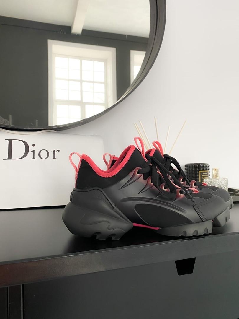 """Кроссовки женские Dior d connect """"black pink"""""""