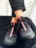 """Кроссовки женские Dior d connect """"black pink"""", фото 4"""