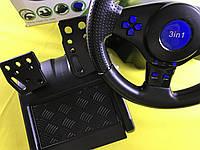 Геймерский руль с педалями USB для  PS2 / PS3 П.К.