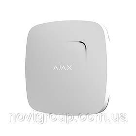 ¶Бездротовий датчик детектування диму і чадного газу Ajax FireProtect Plus white