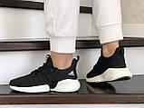 Кроссовки женские Adidas Alphabounce черно белые, фото 2