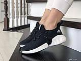 Кроссовки женские Adidas Alphabounce черно белые, фото 4