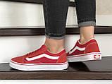 Кроссовки женские Vans красные, фото 2