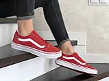 Кроссовки женские Vans красные, фото 3
