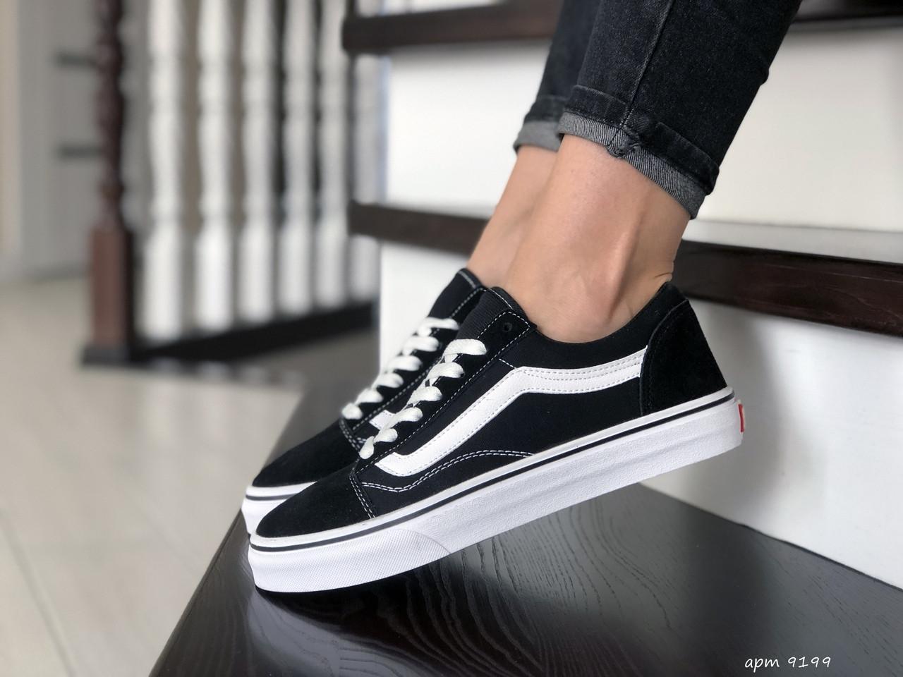 Кроссовки женские Vans черно белые