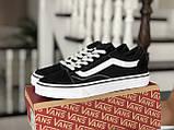 Кроссовки женские Vans черно белые, фото 2