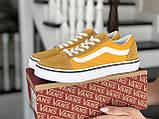 Кроссовки женские Vans желтые, фото 3