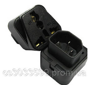 Перехідник на євророзетку TEFAL F-F Black, в упаковці 20 штук, ціна за штуку