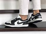 Кроссовки женские Nike Air Jordan 1 Low белые с черным, фото 3