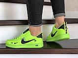 Кроссовки женские Nike Air Force салатовые, фото 4