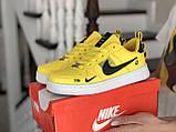 Кроссовки женские Nike Air Force желтые, фото 2