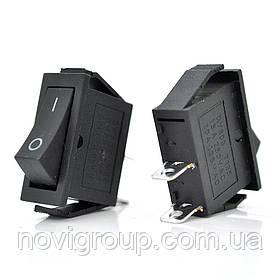 Перемикач ON-ON KCD3-102, 250VAC / 6A, 2 контакту, Black, Q200