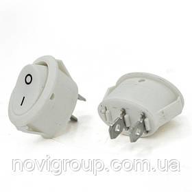 Перемикач ON-OFF KCD1-301, 250VAC / 6A, 2 контакту, White, Q100