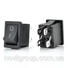Перемикач ON-OFF KCD1-104, 250VAC / 6А, 4 контакту, Black, Q100