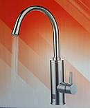 Проточный смеситель-водонагреватель нержавейка Zerix ELW04-E, фото 2