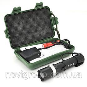Ліхтарик ручний H-86, 3 реж., Zoom, корпус-алюміній, ударостойкий, 18650 ак-тор, СЗУ, BOX