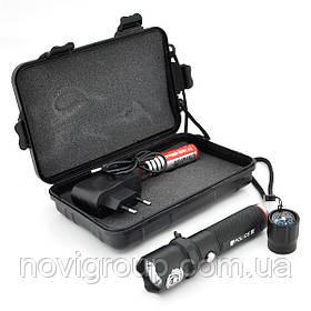Ліхтарик ручний HB-808, 3 реж., Zoom, корпус-алюміній, ударостойкий, 2*18650 ак-тор, СЗУ, BOX