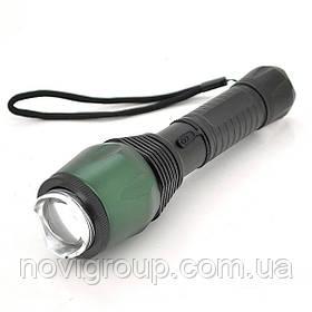 """Ліхтарик ручний 622-1, 1 реж., Zoom, корпус-алюміній, ударостойкий, живлення 3*1,5""""AAA"""", Green, OEM"""