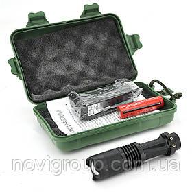 Ручний Ліхтарик XINSITE SK-68, 3 реж., Zoom, корпус-алюміній, ударостійкий, 18650 ак-тор, ЗУ для ак-ра, BOX