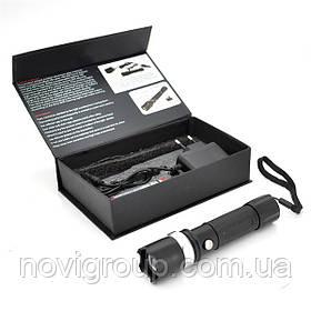 Ручний Ліхтарик WD-807, 3 реж., Zoom, корпус-алюміній, ударостійкий, 18650 ак-тор, СЗУ, BOX