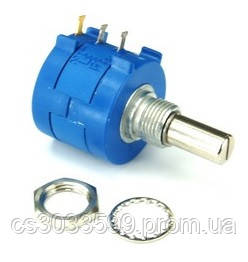 Багатооборотні прецизійні дротові потенціометри 3590S-2-202L, 10 штук в упаковці, ціна за штуку, фото 2