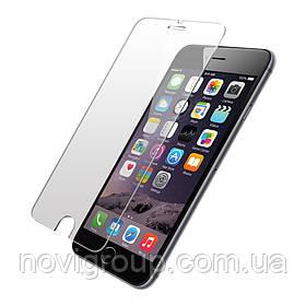 Захисне скло на екран прозоре для iPhone 6+, (в пакеті без серветок)