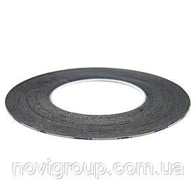 Скотч двосторонній довжина 50м., ширина 1мм чорний