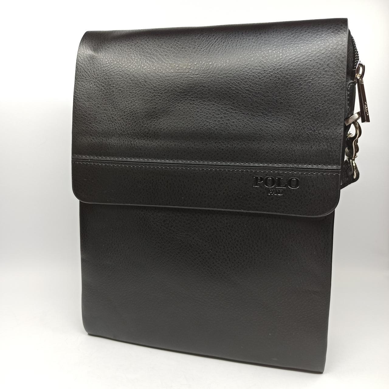 Шкіряна чоловіча сумка через плече / Мужская кожаная сумка через плечо Polo