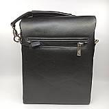Шкіряна чоловіча сумка через плече / Мужская кожаная сумка через плечо Polo, фото 5