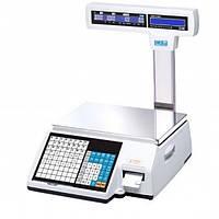 Весы торговые со стойкой с печатью этикеток CL5000J-IP