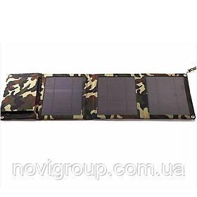 Power bank 5000 mAh Solar, (5V / 200mA), 2xUSB, 5V / 1A / 1A, USB  microUSB, волого / ударо захищений