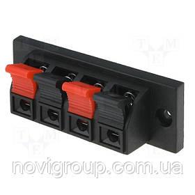 Затискач 4-pin JR6255 для динаміка розмір панелі 70 x 24 мм