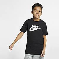 Футболка спортивная подростковая на мальчика NIKE B NSW TEE FUTURA ICON TD черная