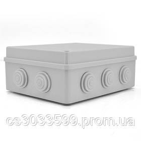 Коробка розподільна зовнішня YOSO 200x155x80 IP65 колір білий, 10 отворів, соски в комплекті, BOX, Q60