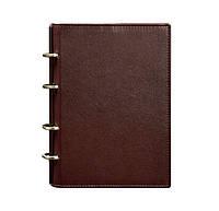 Кожаный блокнот софт-бук на кольцах 9.0 Soft (бордовый), фото 1