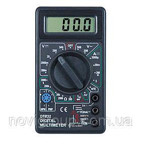 Мультиметр DT-832 Вимірювання: V, A, R (130*105*30) 0,15 кг (120*68*23)