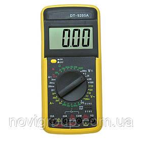 Мультиметр DT-9205А Вимірювання: V, A, R, C (200 *133 * 40 ) 0.33 кг (176*86*30)