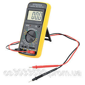 Мультиметр DT-9208A (186 х 86 х 41) Вимірювання: V, A, R, C, F, T (186 х 86 х 41) 0.318 кг